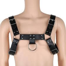 men s tank vest flirting y pu leather harness man underwear tops nightwear wear lace and bras bustiers and