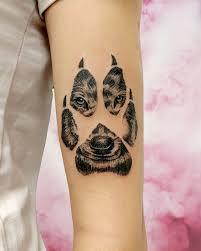 волк волчица след лапа Wolf Redinktattoo Pink розовый