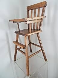 vintage retro wood baby doll bear high chair toy lift tray table vintage retro wood baby doll bear high chair toy lift tray table 27 tall