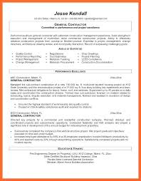 general contractor resume. General Contractor Resume Sample nmdnconferencecom Example
