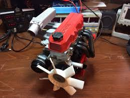 Toyota 4 Cylinder Engine 22RE, Complete working model by ...