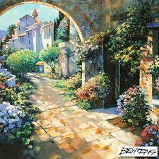 howard behrens signed under the tuscan sun limited edition 32x24 hand embellished giclee on