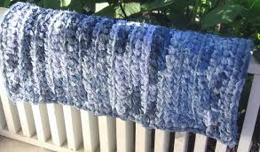 crochet denim rag rug