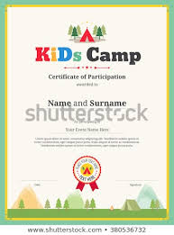 Children Certificate Template Colorful Kids Certificate Template Portrait Children Stock Vector