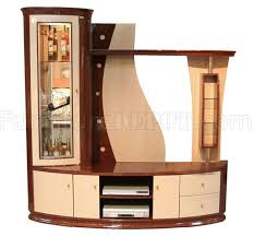 two tone modern wall unit display cabinet
