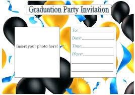 Graduation Invitation Template Word Meetwithlisa Info