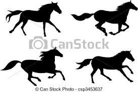 running horses black and white. Unique White Horses  Csp3453637 Throughout Running Black And White P