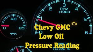 Check Engine Light Chevy Avalanche Chevy Gmc No Oil Pressure Gauge Reading