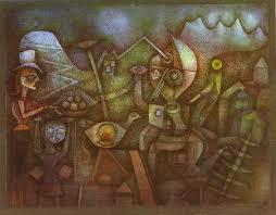 klee paintings paul drawing art