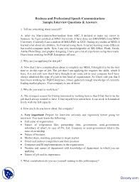Scholarship Interview Questions Interview Questions Effective Business Communication Lecture