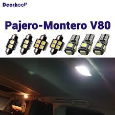 Mitsubishi Montero Interior Lights Us 16 2 19 Off Deechooll 14pcs Car Led Bulbs For Mitsubishi Pajero 2007 2014 White Auto Interior Lights For Montero V80 Reading Dome Light In