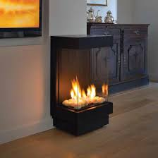 standalone 40 ts front and two sides gas fireplace