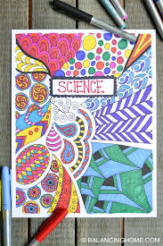 Binder Cover Page Coloring Page Binder Cover Printable Balancing Home