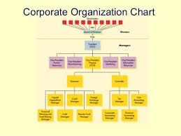 Corporate Finance Organizational Chart Principles Of Managerial Finance