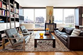 gy carpet leather sofa wall shelves living room design ideas in brown and beige 50 fabulous interiors