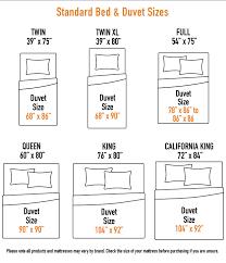 Bed Duvet Size Chart Duvet Cover Buying Guide Sizes Chart Designer Living