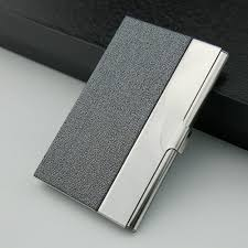 Stainless Steel Business Cards Executive Stainless Steel Business Card Holder Wallet Grey