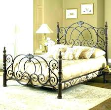 Cal King Wrought Iron Beds Wrought Iron King Bed Frame King Size ...