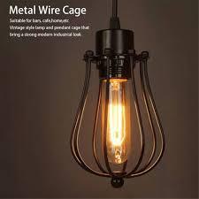 Light Bulb Socket Chandelier Lighting Vintage Lamp Covers Metal Shades Antique Pendant