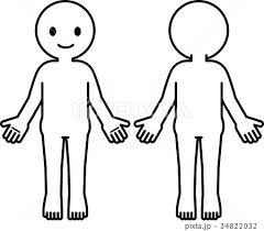 シンプルな人体のデフォルメイラストのイラスト素材 34822032 Pixta