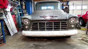 55 Chevy truck- I got a grill - YouTube