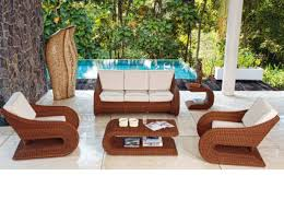 Dining Room  Outdoor Sectional Furniture All Weather Patio Rattan Furniture Outdoor