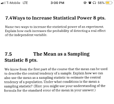 Statistical Power Formula Solved T Mobile Lte 3 00 Pm O 56 7 4ways To Increase S