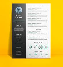 Free Creative Resume Cv Templates Great Download A Colorful Resume