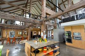 The kitchen of the Goodmans' converted barn home. 'This is the ultimate open