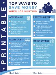 how to save money when job hunting make money your way