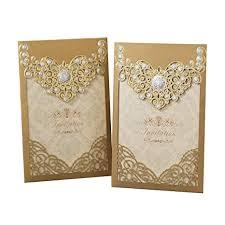 Ponatia 25pcs Laser Cut Invitations Cards Luxury Diamond Gloss Design Wedding Bridal Shower Invitation Baby Shower Engagement Birthday Invitation