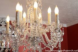licious five light white finish candle sleeves glass polished chandelier candle covers white