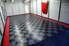 motofloor garage tiles garage floor tiles in nice performance unique red line pattern design applied in