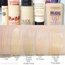 review swatches mateja s beauty catrice illusion foundation 010 ivory my take neutrogena healthy skin liquid
