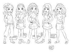 Small Picture lego friends coloring 3 BirthdaysLegoFriends Pinterest