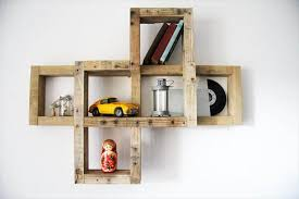 recycled pallet wall decorative wall shelf on wall art shelf with diy pallet wall hanging art shelf 101 pallets
