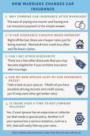 carinsurance after marriage should lead to drop in car insurance rates if policies are combined