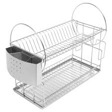 Kitchen Dish Rack 2 Tier Kitchen Countertop Dish Drying Storage Rack Mygift