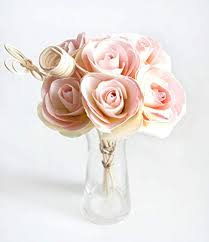 Paper Flower Bouquet In Vase Plawanature Pink Rose Mulberry Paper Flower Bouquet With Reed Diffuser For Home Fragrance Bundle Of Of 7 Roses