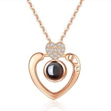whole women s 925 sterling silver rose gold pendant with 100 ages i love you inlay heart shaped diamond party jewelry heart necklaces gold name