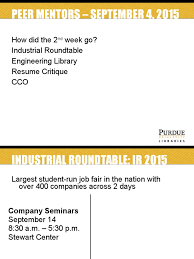 Industrial Roundtable And Libraries At Purdue Resume Secondary