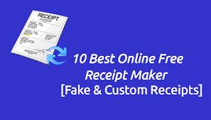 Fake Receipt Maker Free 10 Online Free Receipt Maker Tools 2019 Fake Custom Receipts