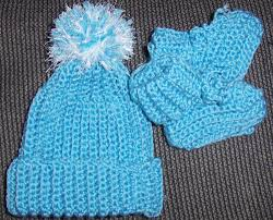 Preemie Booties And Hat