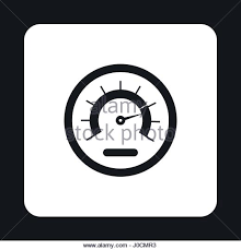 tachometer clipart black and white. tachometer icon in simple style - stock image clipart black and white m
