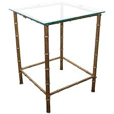 gold leaf coffee table gold leaf bamboo motif side table with glass top by for gold leaf coffee table
