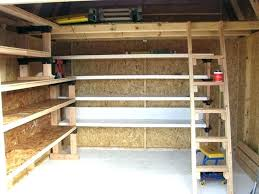 wooden garage shelves garage storage shelves build