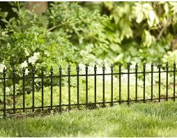 garden edging fence. Empire Black Powder Coated Steel Garden Edging (Common: 0.03-in X 22.52-in 18-in; Actual: 18-in) Fence