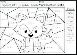 Multiplication Coloring Pages 4th Grade Creativeinfotechinfo