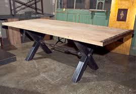 industrial type furniture. Industrial Style Steel Base Dining Table, The With A X-frame Joined Type Furniture S