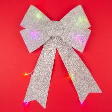 Light Up Christmas Bows Colour Changing Light Up Christmas Bow